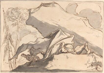 Paul Troger, 'A Desert Hermit Adoring the Crucifix'