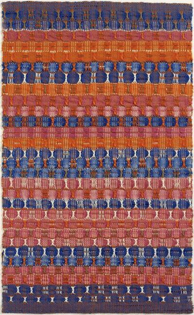 Anni Albers, 'Red and Blue Layers', 1954