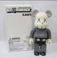 KAWS, 'Bearbrick 400% Grey ', 2002