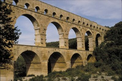 'Pont-du-Gard Aqueduct', ca. 19 B.C.-14 A.D.