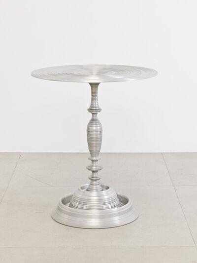 Sebastian Brajkovic, 'Lathe Table 450 Silver', 2010