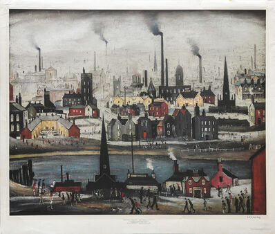 Laurence Stephen Lowry, 'Industrial Landscape - The Canal.', ca. 1975