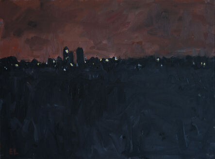 Eugene Leake, 'Dairy Farm Night with Pink Sky', 1999