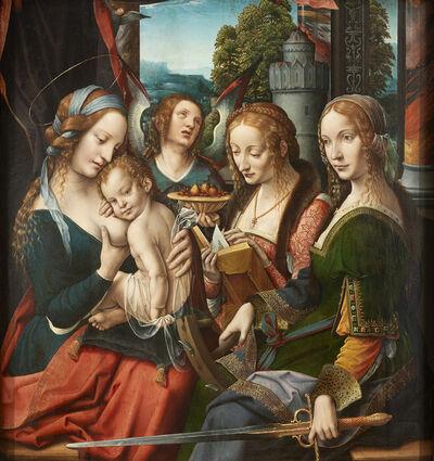 'Madonna and Child with Saint Barbara and Saint Catherine, Netherlandish', ca. 1525