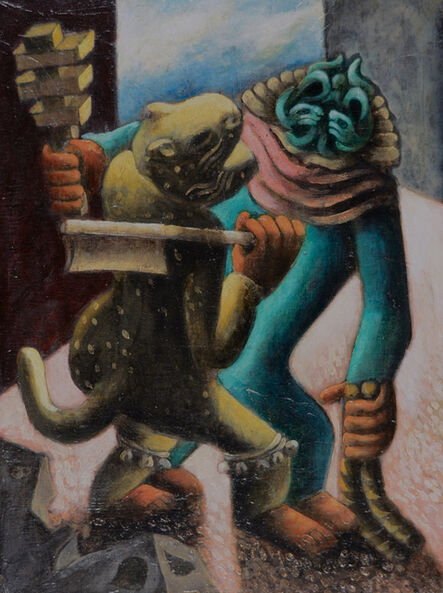 Julio De Diego, 'Tlaloc and the Tiger', 1939