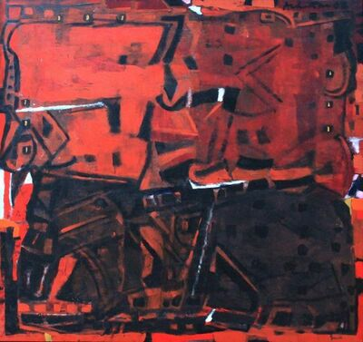 Achuthan Kudallur, 'Untitled (Brown / burgundy abstract)', 2008