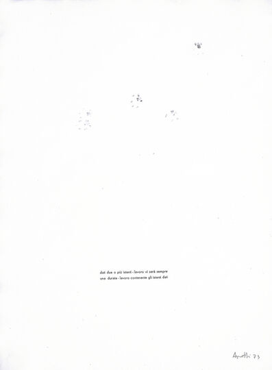 Vincenzo Agnetti, 'untitled', 1973