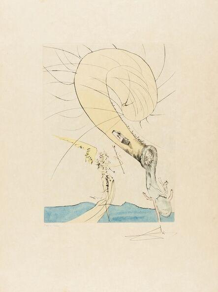 Salvador Dalí, 'Freud with a Snail Head (Field 74-8G; M&L 672d)', 1974