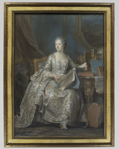Maurice-Quentin de La Tour, 'Portrait en pied de la marquise de Pompadour (Portrait of the Marquise de Pompadour)'