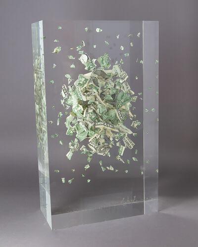 François Bel, 'Big Dollars - Explosion of bills', 2020