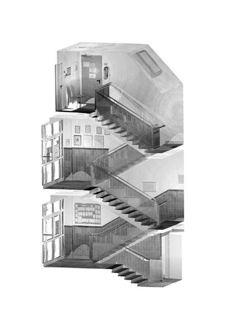 Tim Berresheim, 'Treppenhaus Grundschule. Kohärent kartographiert.', 2020