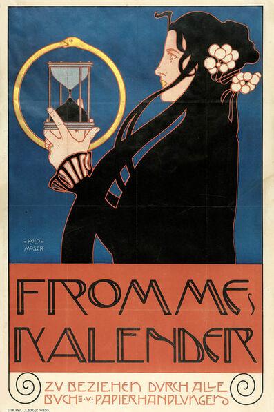 Koloman Moser, 'Poster for Frommes Kalender', 1899