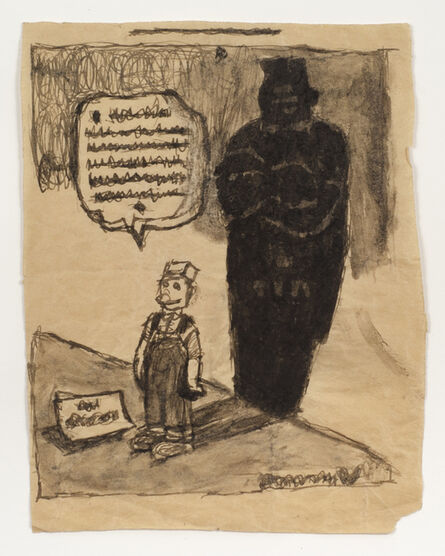 James Castle, 'Untitled (Cartoon with shadow)', n.d.
