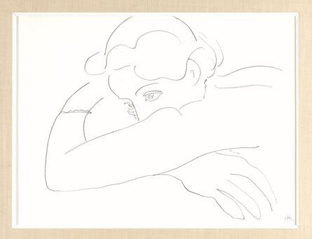 Henri Matisse, 'Femme tournée vers la gauche, la tête reposée sur les avant-bras', ca. 1935