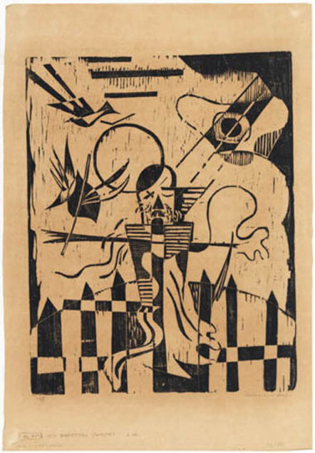Werner Drewes, 'Old Scarecrow––Hitler as Scarecrow', 1943