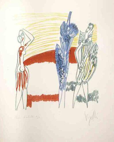 Antonio Vangelli, 'Three Colored Figures', 1970s