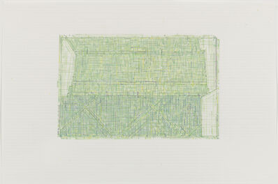Julia Fish, 'Trace 4 : after Threshold, SouthWest - Two [ spectrum: green]', 2010