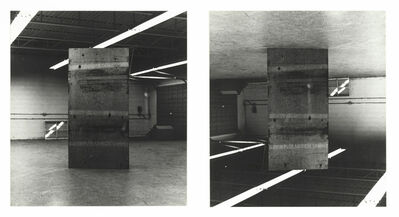 William Wegman, 'Inverted Plywood,', 1973