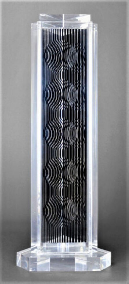 Victor Vasarely, 'HOLLD (Moire tower)', 1990