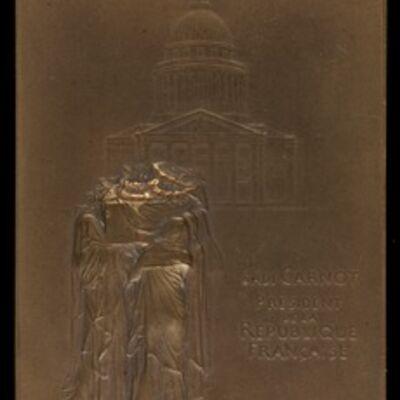 Louis-Oscar Roty, 'The Body of President Sadi Carnot Borne to the Panthéon [obverse]', 1894
