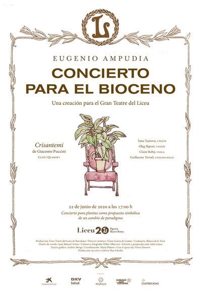 Eugenio Ampudia, 'Concierto para el Bioceno Cartel / Concert for the Biocene Poster', 2020