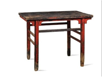 Unknown Chinese, 'A red and black lacquered softwood rectangular recessed-leg table', China: Shanxi province, Ming dynasty, 17th century