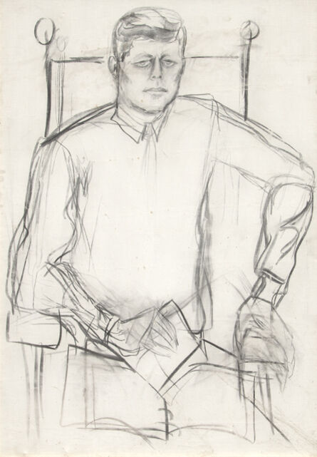 Elaine de Kooning, 'Study of John F. Kennedy', 1963