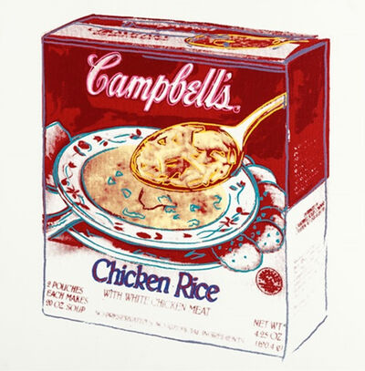 Andy Warhol, 'Campbell's Soup Box: Chicken Rice by Andy Warhol ', 1986