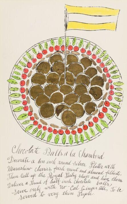 Andy Warhol, 'Chocolate Balls à la Chambord (from Wild Raspberries) (see Feldman & Schellmann IV.128.A)', 1959