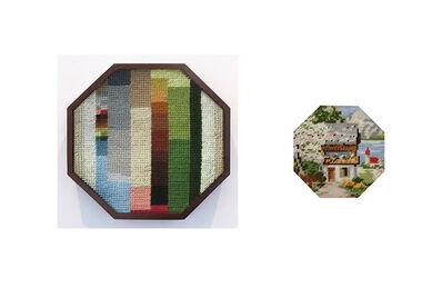 Andrea Canepa, 'cabaña de verano con árbol en flor y lago de fondo', 2013