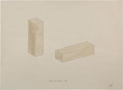 Robert Morris (b. 1931), 'Column, Two Positions, 1961', 1972