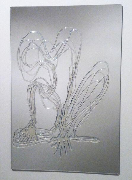 Tatiana Grinberg, 'distância recoberta_corte_n [d] sobre espelho', 2014
