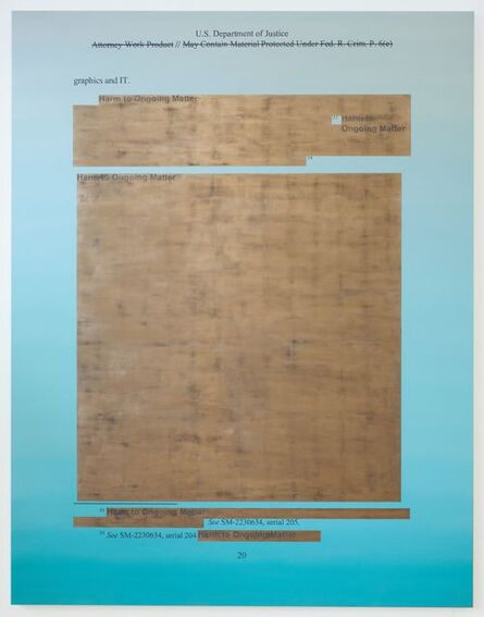 Jenny Holzer, 'Attorney Work Product', 2020