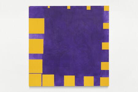 Paul Mogensen, 'no title (cobalt violet and cadmium yellow, sixteen square progression on the edges)', 2019