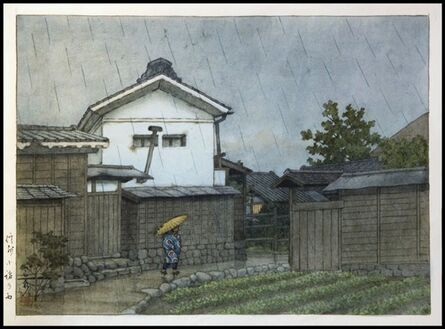 Kawase Hasui, 'Rainy Day in Shinshu, Nagano', 1920-1930