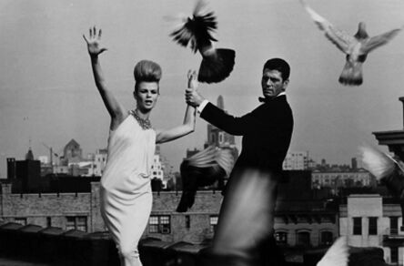 Bert Stern, 'Rooftops: Dress by Ceil Chapman and collar by Lilly Dache, VOGUE', 1962