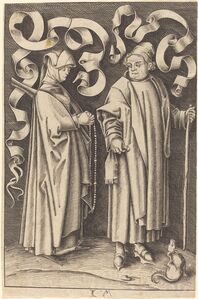 William Young Ottley after Israhel van Meckenem, 'The Churchgoers'