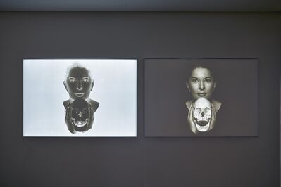 Marina Abramović, 'Portrait with Laughing Skull (positive)', 2019