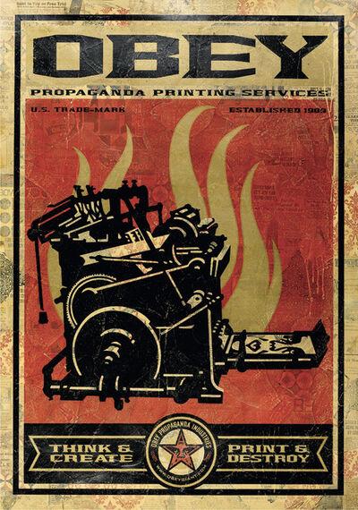 Shepard Fairey, 'Print and Destroy', 2009
