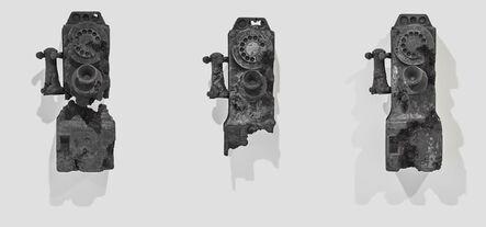 Daniel Arsham, 'Three Ash Eroded Rotary Phones', 2013