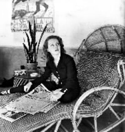 Alfred Eisenstaedt, 'Actress Bette Davis Skimming Through the Morning Papers in her Playroom at Home, Hollywood, California', 1939