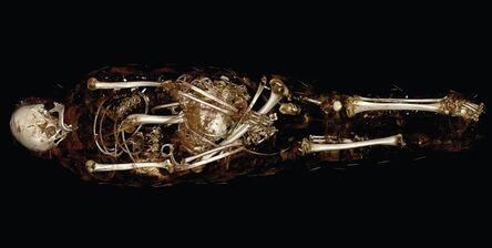 "Unknown Artist, 'CT scan of mummy of ""Hatason"" Egyptian, Asyut, late New Kingdom (Dynasty 20) or Dynasty 21', 1100"