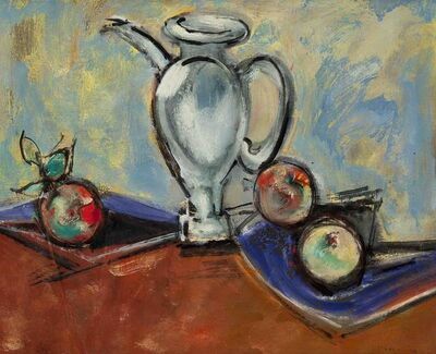 Max Weber, 'Sill Life with Pitcher and Fruit', 1950
