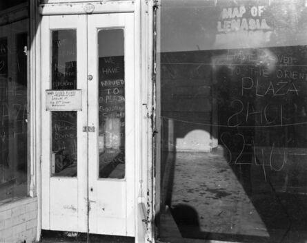David Goldblatt, 'Ozzie Docrat's shop after its forced closure under the Group Areas Act, Fietas. 1977', 1977