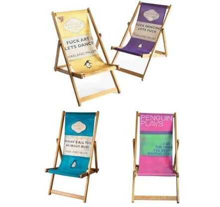 Harland Miller, 'HARLAND MILLER- SET OF FOUR DECK CHAIRS', ca. 2013