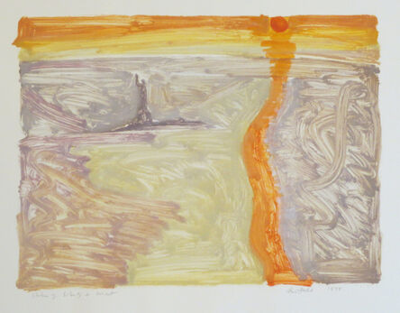 Lois Dodd, 'Statue of Liberty + Sunset', 1998