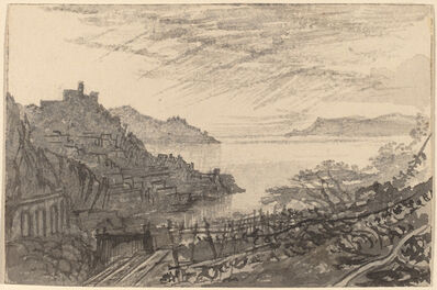 Edward Lear, 'View of a Bay from a Hillside (Amalfi)', 1884/1885