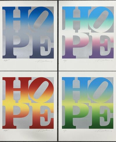 Robert Indiana, 'Four Season of Hope (Silver, Available as a Full Set or Individually)', 2012