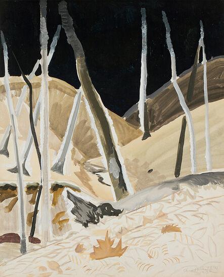 Charles Ephraim Burchfield, 'Black Void', April 28-1917