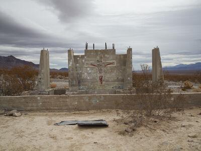 "Richard Misrach, 'Shotgun Practice, ""he will return,"" NevadaShotgun Practice, ""he will return,"" Nevada'"
